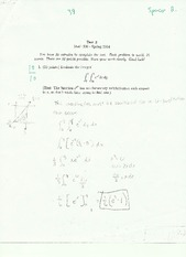 Multiple Variable Calculus Exam 3