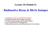EASC 2502 Lecture 10 (Module 5) Rb-Sr Isotopes