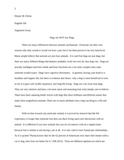 Psychology of Dogs Essay