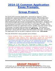 Common App Group Project