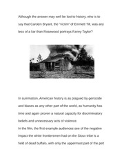 Essay on American Genocide