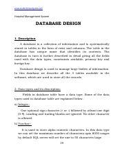 Database Design Hospital Management System Databasedesign 1 Description Course Hero