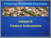 Chapter 5 Finance Instruments