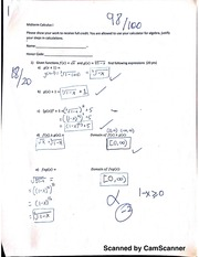 Midterm, Functions and Limits
