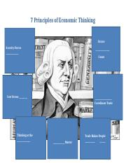 7 Principles of Economic Thinking handout