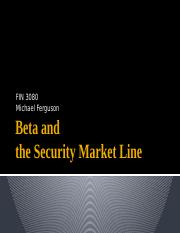 Beta and the Security Market Line.pptx