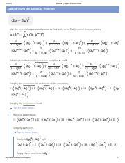 2y-3x)^5.pdf - Mathway | Alge Problem Solver Expand Using ... on binomial formula, binomial equation, binomial factorials, binomial term, binomial example, binomial expression, binomial probability, binomial function, binomial series, binomial square, binomial setting, binomial distribution, binomial pyramid, binomial algebra, binomial trinomial, binomial coefficient,