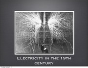 Electricity in the 19th century