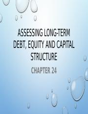 Assessing Long-Term Debt, Equity And Capital Structure.pptx