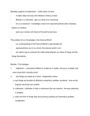notes - Berkley reading