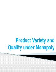 8-Product Variety and Quality under Monopoly