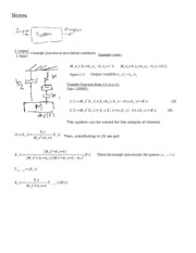 [8] Transfer Functions + Laplace Transfrom (cont.)
