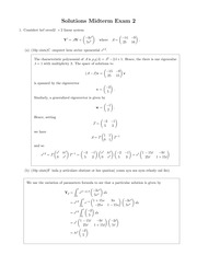 MATH 306 Fall 2014 Midterm 2 Solutions