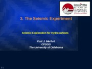 3. The Seismic Experiment