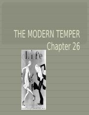 Chapter 26-THE MODERN TEMPER.pptx