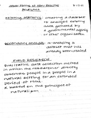 Class notes on non-relative analyses