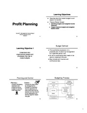 Lecture 8 -Budgeting