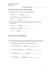 week 2 nutrition worksheet Crossword puzzles - answer key puzzle title across answers down answers  days of the week 1) thursday 2) friday 3) wednesday 5) monday 6) sunday.
