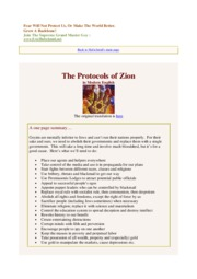 The Protocols Of Zion - In Easy Modern English [EricHufschmid.net]