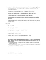Solutions Handout assignment III(3)