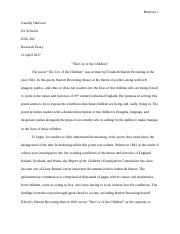 Brit Lit Research Paper