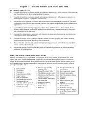 Chapters 1-4  Key Terms and Objectives 2014
