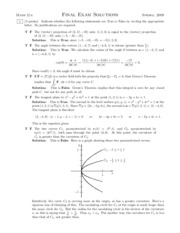 Math21a-Spring2009-Final-Solutions
