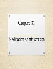 Ch 31 Medication Administration