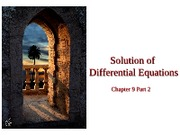 Chap 9 Part 2 Solutions of Differential Eqs. (Adams-Bashfort-Moulton, Milne-Simpson, Systems of D.E'