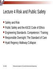 Lecture 4 Spring Semester 2017 Public Safety