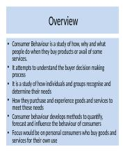 Consumer Behaviour – Nature, Scope, and Applications(1)