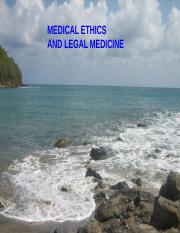 MEDICAL ETHICS  AND LEGAL MEDICINE.ppt