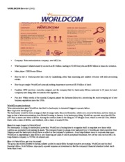 WorldCom goes bankrupt