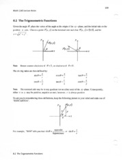 8.2 the trigonometric functions