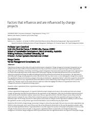 Factors that influence and are influenced by change projects.pdf