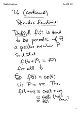 Periodic Functions Cont.