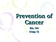 Module 13  (Lec 1)- Cancer Causes and Prevention