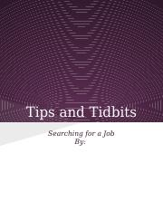 Copy of Tips and Tidbits_Searching for A Job