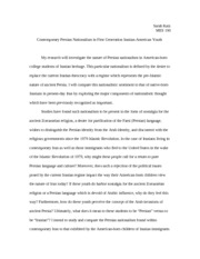 MES 102 Thesis Proposal and Annotated Bibliography