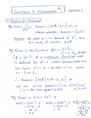 Assignment Solutions 1