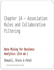 Chapter 14 Association Rules Collaborative Filtering_1.ppt