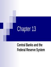 Chapter 13-The Federal Reserve System-13(1).ppt