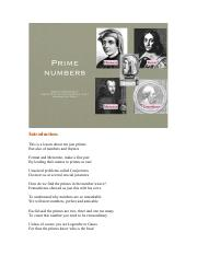Lesson 8 Prime Numbers