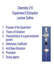 210 Lecture 5 Extraction Fall 2014-15 (1) 2