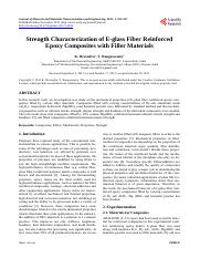 Strength Characterization of E-glass Fiber Reinforced__Epoxy Composites with Filler Materials 材料布氏硬度