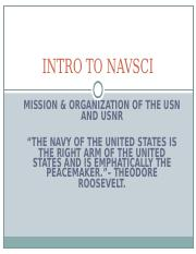 Lesson 4 Mission and Organization of USN USNR (2)