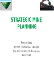 Strategic Mine Planning - Tech Factors and Mining Sequence -1.pptx