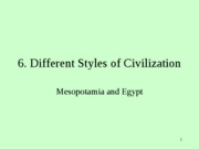 Differenct Styles of Civilization