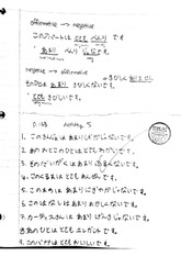 Beginners Japanese 10 Fall 2009 Affirmatives and Negatives Lecture Notes