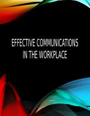 Effective communications in the workplace